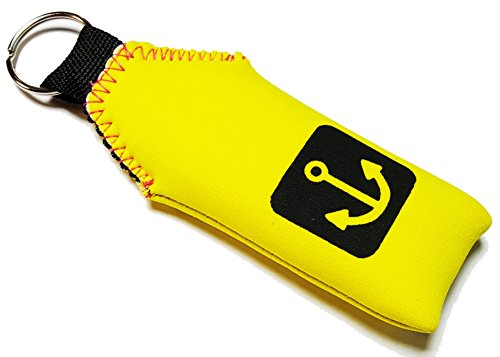 Yellow Floating Neoprene keychain Key chain Floats 2-3 Keys