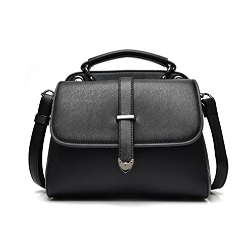 Shishang Petit sac à dos 2018 Nouveau Femme coréenne Mode Pu petit sac à bandoulière épaule Tide Simple sauvage Casual (Couleur: Noir) Noir