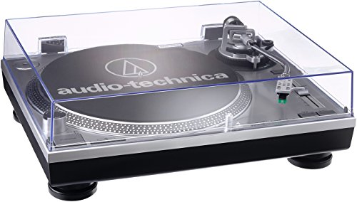 Audio Technica AT-LP120USBHC Plattenspieler mit Direktantrieb inkl. Tonabnehmer AT95E & Headshell AT-HS10 Farbe: Silber