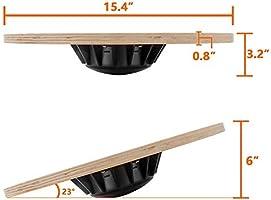 Amazon.com: Yogree tabla de equilibrio de madera para ...