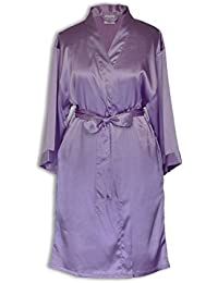 Women s Kimono Satin Robe Satin Lounge Bridesmaids Short Robe 9fb390366