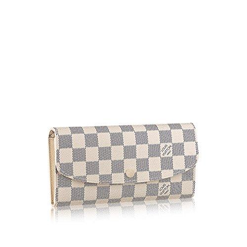 67612c0284a7 Louis Vuitton Damier Azur Canvas Emilie Wallet N63546
