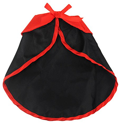 Pet Halloween Costume-Cosplay Costume Party Clothes- Dracula Cloak for Small Dogs & Cat Kitten, Cat Costume,Black