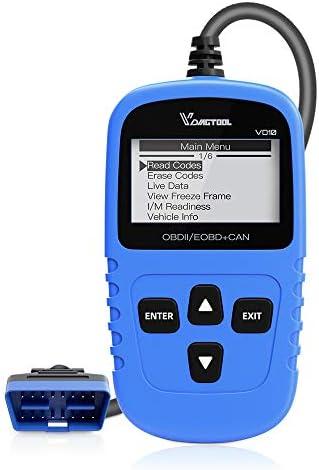 VDIAGTOOL VD10 OBD2 Scanner Auto Fault Code Reader OBDII Diagnostic Scan Tool for Check Engine Light 7 Modes