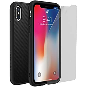 outlet store 6af8e d0c63 RhinoShield Full Impact Protection Case for [ iPhone X ], Military Grade  Drop Protection, Slim, Scratch Resistant - Carbon Fiber Texture [Special ...