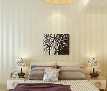 qihang - rotolo di carta da parati a righe per soggiorno e camera ... - Carta Da Parati Classica Per Camera Da Letto