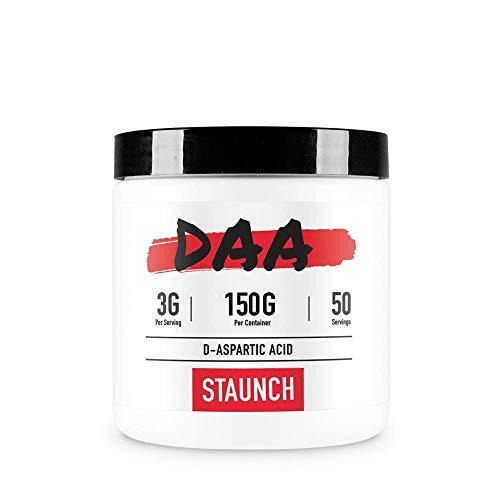 Staunch D-Aspartic Acid Powder 150 Grams, 50 Servings High Quality Supplement