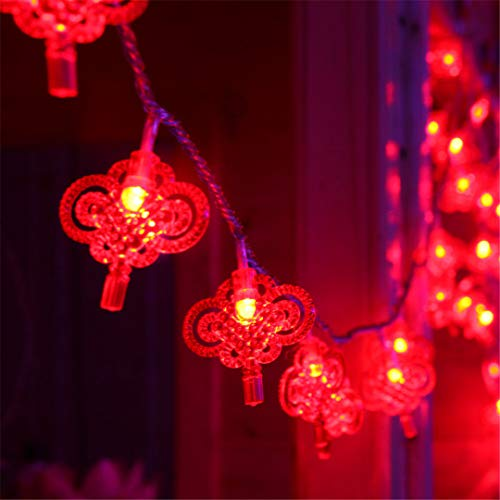 BGFHDSD AC 220V LED Lighting String Chinese Knot Lights Garland Chandelier New Year Fairy Wedding Christmas Supplies Decor. Nudo UK Plug by BGFHDSD (Image #4)