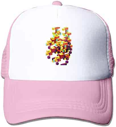 c63feaaf Mesh Sports Baseball Caps Color Square Print Adjustable Trucker Sun Hats  for Running Outdoor