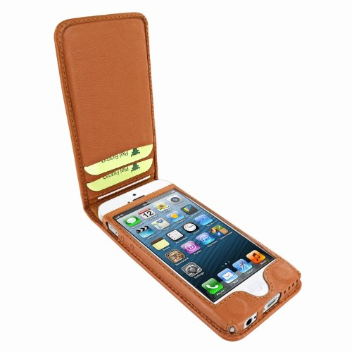 Piel Frama Ledertasche Classic Magnetic RACE Edition Braun/Weiß für Apple iPhone 5C