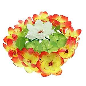 D DOLITY Artificial Lotus Flower Wreath Funeral Cemetery Grave Flower Decoration 71