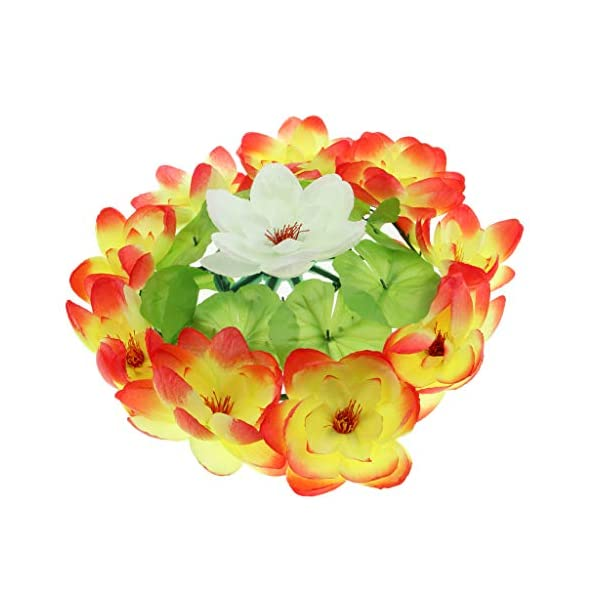 D Dolity Artificial Lotus Flower Wreath Funeral Cemetery Grave