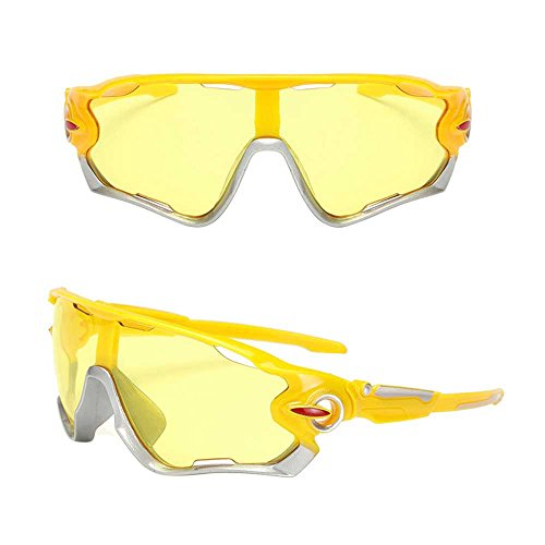 KXN Polarized Cycling Outdoor Sports Sunglasses Goggles for men women Baseball Running Cycling Fishing Golf TR (Yellow&Yellow Lens - Golf Muta