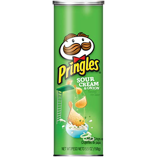 (Pringles Sour Cream & Onion Potato Chips 5.5 oz Cans - Pack of 2)