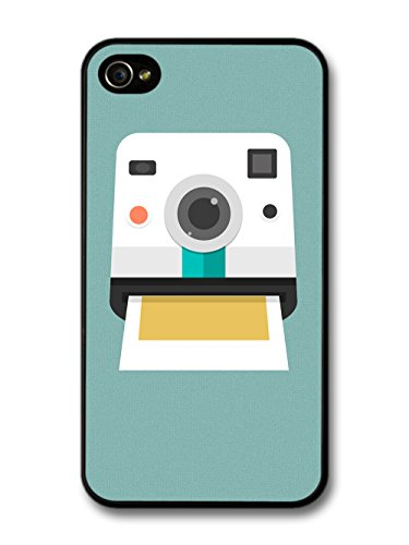 Retro Instant Print Camera Design on Cool Minimalist Green Hipster coque pour iPhone 4 4S
