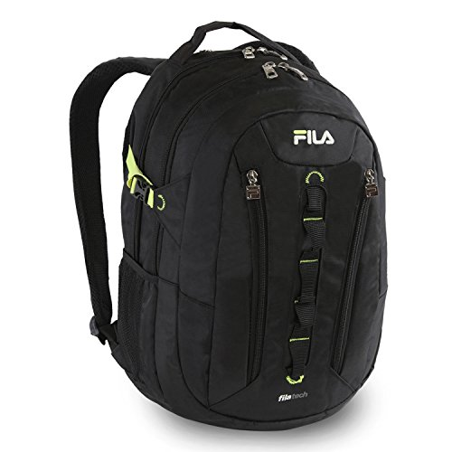 Fila Vertex Tablet and Laptop Backpack School, Black, One Size