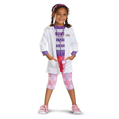 Top 5 Female Halloween Costumes - Girl's Disney Doc McStuffins Deluxe Costume, 4-6X
