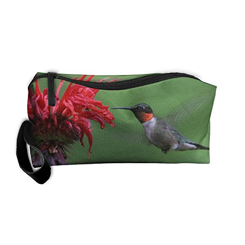 Ruby Oxford (Ruby Throated Hummingbird Oxford Cloth Storage Bags Toiletry Kit Clutch Bag Zipper Drug Portable Cosmetic Bag)