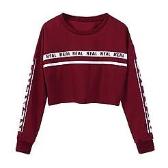 Zulmaliu Girl Sweatshirt, Fashion Letter...