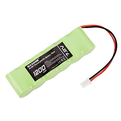 Masione 7.2V 1200mAh 6-Cell Flat NiMH Battery Rechargeable with Micro Molex Plug for RC Cars, Airplanes, Airboat, PTR