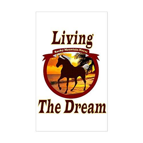 CafePress Rocky Living The Dream Rectangle Sticker Rectangle Bumper Sticker Car Decal