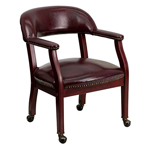Brown Luxurious Conference Chair (Offex OF-B-Z100-OXBLOOD-GG Oxblood Vinyl Luxurious Conference Chair with Casters)