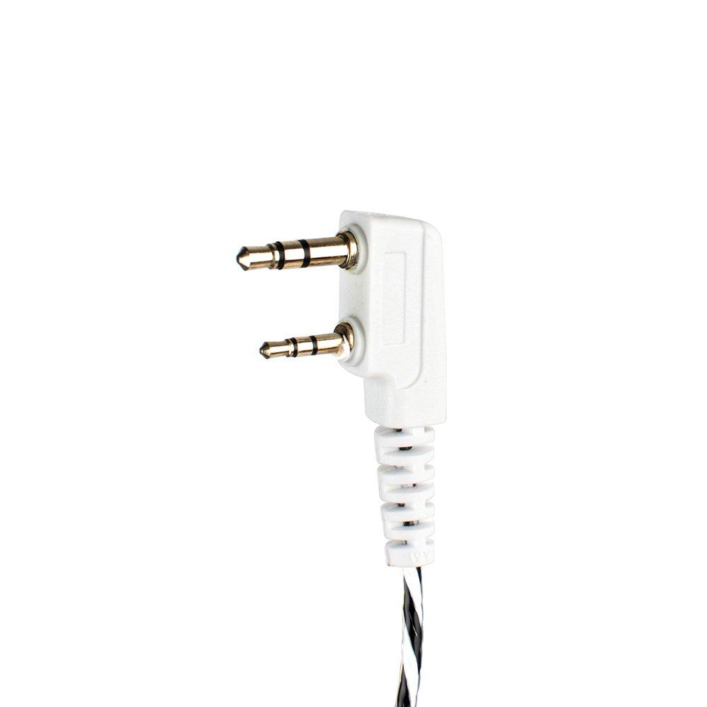 LTD 4350445841 2Packs NAN AN QIXING ELECTRONIC CO BGC08W Portable Walkie Talkie Earpiece G Shape Clip-Ear Headset for Baofeng UV-5R BF-888S Walkie Talkie Two Way CB Ham Radio