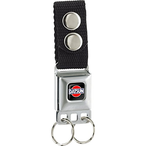Buckle-Down Keychain - Classic Datsun Logo Full Color Black/red/blue/whi Accessory, -Multi-Colored, One Size Classic Logo Keychain