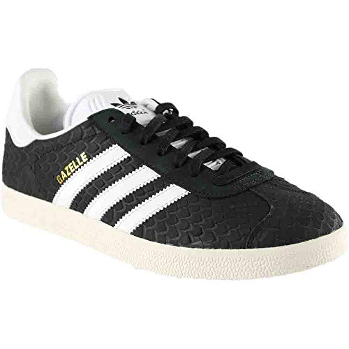 adidas Womens Gazelle Casual Athletic & Sneakers Black (Adidas Women Shoes Gazelle)