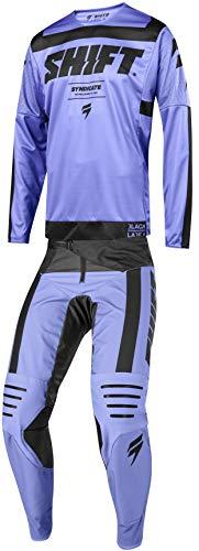 Shift MX 2019 Black Label Strike Motocross Off-Road Dirt Bike Riding Gear Combo (Mens Purple & Black Jersey X-Large/36W Pant)