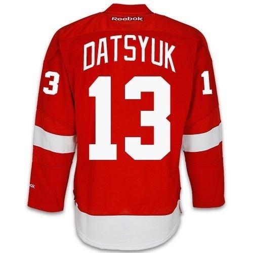 Pavel Datsyuk Detroit Red Wings - Pavel Datsyuk Detroit Red Wings NHL Red Home Premier Hockey Jersey (Large)