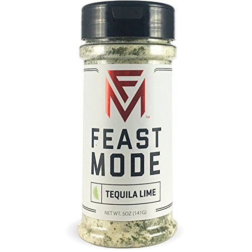 Feast Mode Flavors - Tequila Lime - Low Sodium, No MSG, Gluten Free, All Natural, Meal Prep Seasoning, Healthy, Lime Juice Powder, Tequila Seasoning