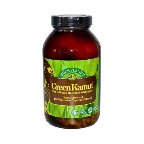 Pure Planet Green Kamut l'ultime agropyre Heirloom - 240 Capsules végétariennes - USDA Certified Organic - détoxifier l'organisme, reconstruire les tissus, fournir une excellente source d'antioxydants