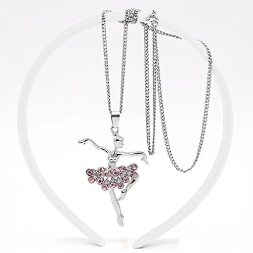 23ff06389803 Adecco LLC Little Girl Necklace Dancer Ballet Recital Gift Ballerina ...