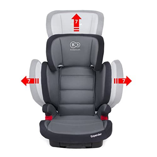 best Kinderkraft Siège auto réhausseur Isofix (Groupe 2/3, 15–36kg, gris)