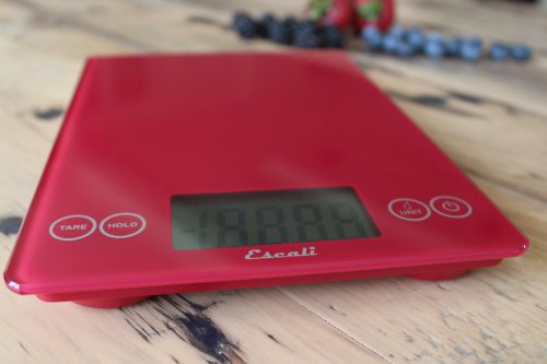 Escali-157RR-Arti-Glass-Digital-Kitchen-Scale-15Lb7Kg-Retro-Red