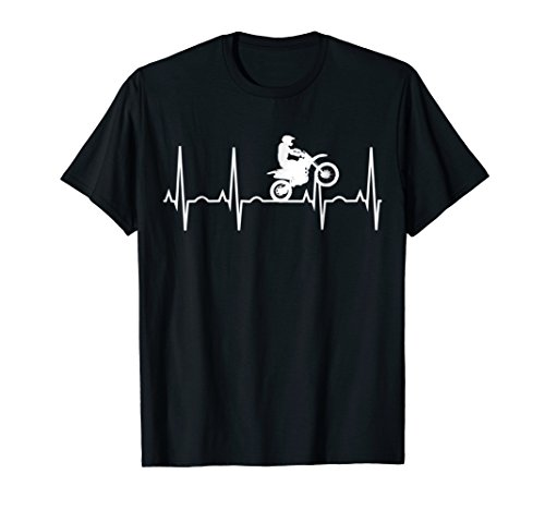 Dirt Bike Heartbeat Shirt - Best Shirt for Dirt Bike (Riders Bike Shop)