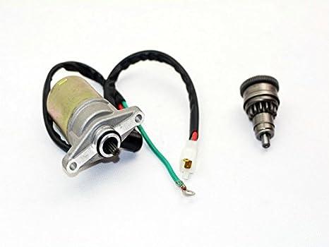 CPW 99008 Motor de arranque y arranque del embrague Asamblea GY6 50 cc 139QMB 139QMA moto ciclomotor partes: Amazon.es: Coche y moto