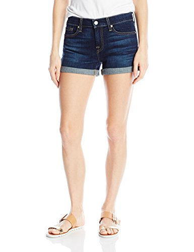 7 For All Mankind Women's Denim Shorts, Roll Up-Santiago Canyon, 26