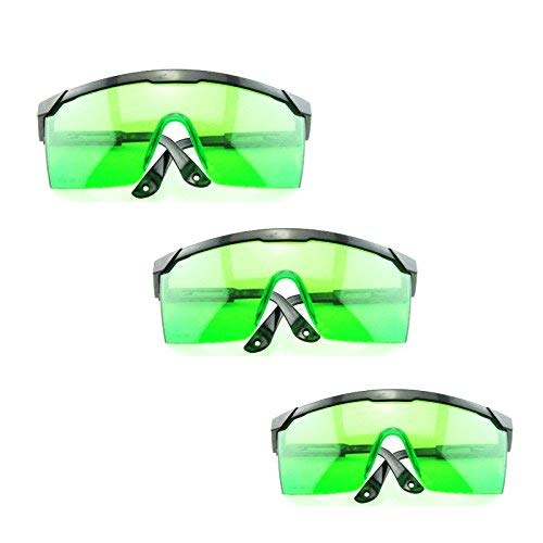 Protective Goggles for Violet/Blue 400nm-450nm Laser Safety Glasses(Pack of 3)