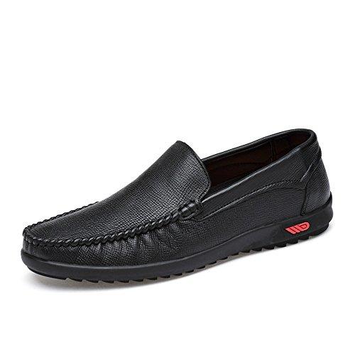 Barco Meimei Low Top los Rubber Penny Sole tamaño Conducción Color Mocasines Marrón Vamp Black Hollow Bare Loafers 41 de Hombres EU Casual shoes Soft q7Pr6qwv