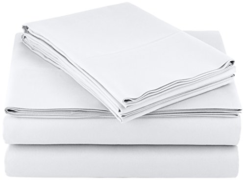 AmazonBasics Microfiber Sheet Bright White