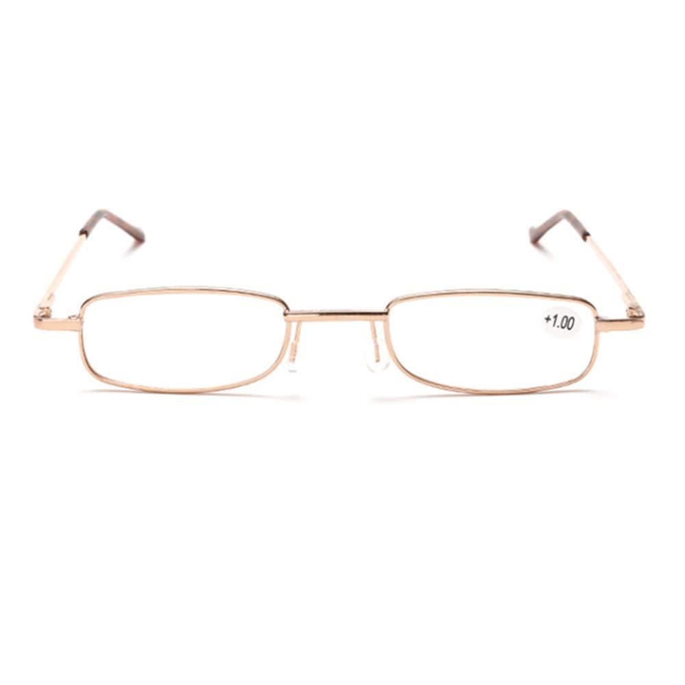 Mini Occhiali da lettura pieghevoli compatti con caso uomini donne presbiopia ipermetropia occhiali con astuccio in tubo ottica Pocket Reader 7 diottrie