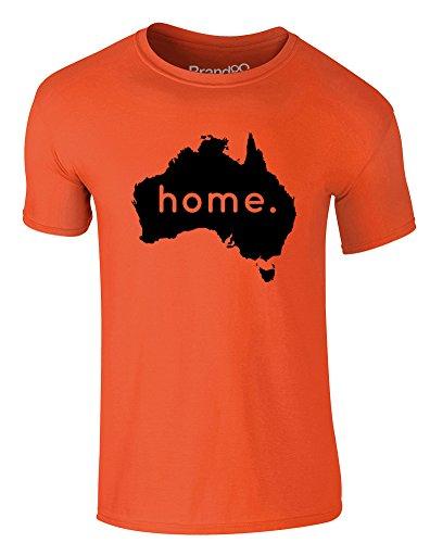 Brand88 Home: Australia, Adults T-Shirt - Orange/Black XL
