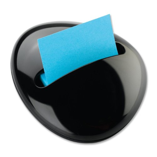 Post-it Pop-up Notes Dispenser for 3 x 3-Inch Notes, Black, Pebble Collection by Karim