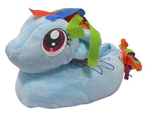 My Little Pony Girls 3D Slip On Slippers UK 4-5 (EUR 21-22) Blue -