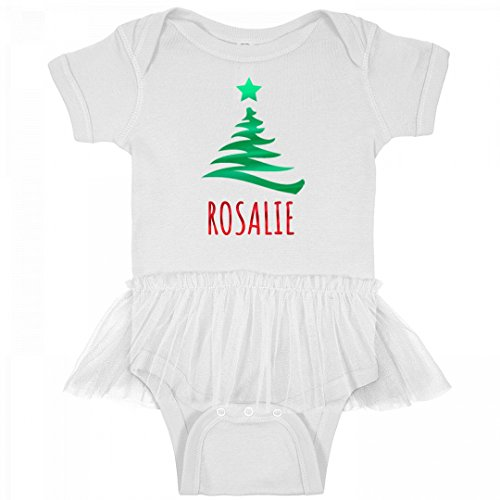 Baby Girl Rosalie Metallic Christmas: Infant Rabbit Skins Tutu Baby Rib - Tee Rosalie