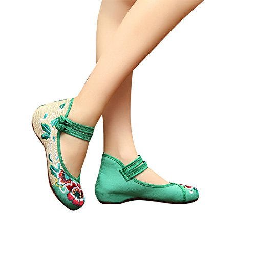 Low single girls aged Hibiscus shoes emb - Costume Baby Doll Platform Shoes Shopping Results