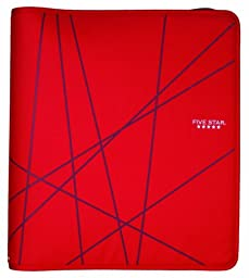 Five Star Zipper Binder, 1.5-Inch Capacity, 13.62 x 12.12 x 2.38 Inches, Red (72356)