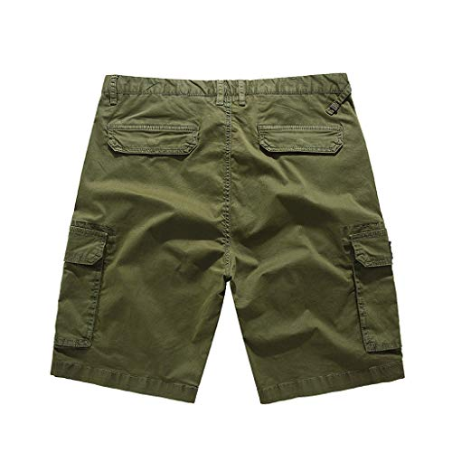 - Pengy Men's Combat Pants Many Pockets Causal Trouser & Cargo Shorts Classic Relaxed Fit Short Army Green